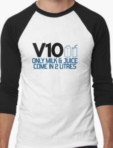 V10 - Only milk & juice come in 2 litres (4) Men's Baseball ¾ T-Shirt