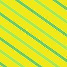 Diagonal Chartreuse Stripes by Betty Mackey