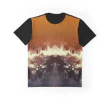 Abstract Black & Orange Graphic T-Shirt