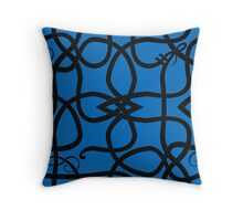 Black Viking Knot Over Blue Throw Pillow