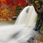 Autumn Whitewater in Indiana by Kenneth Keifer