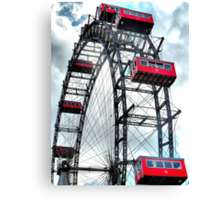 Viennese Giant Wheel in Colour Canvas Print