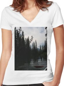 Wild Outdoors Women's Fitted V-Neck T-Shirt
