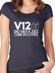 V12 - Only milk & juice come in 2 litres (2) Women's Fitted Scoop T-Shirt
