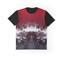 Abstract Black Red Graphic T-Shirt
