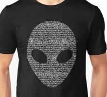 Alien Aurebesh- white version Unisex T-Shirt