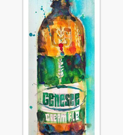 Genesee Cream Ale Beer Art Print - Original Watercolor  Sticker
