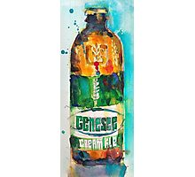 Genesee Cream Ale Beer Art Print - Original Watercolor  Photographic Print
