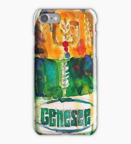 Genesee Cream Ale Beer Art Print - Original Watercolor  iPhone Case/Skin