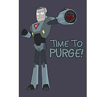 Rick and Morty – Time to Purge! Photographic Print