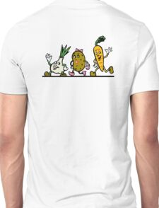 VEGGIES, Vegetables, Vegitarian, Veegan, Cartoon Unisex T-Shirt