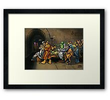 Muppet Death of Socrates Framed Print