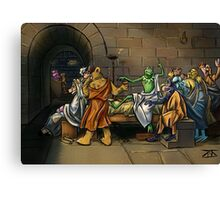 Muppet Death of Socrates Canvas Print