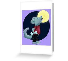Wer den Mond anheult Greeting Card