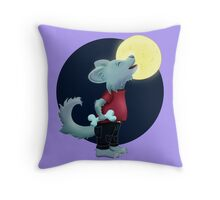 Wer den Mond anheult Throw Pillow