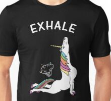 Yoga Unicorn - Exhale Unisex T-Shirt