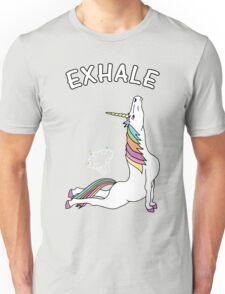 Yoga Unicorn - Exhale Unisex T-Shirt