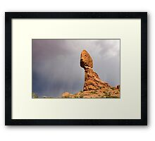 Balancing Rock Framed Print
