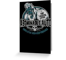 Abominable Auto Greeting Card