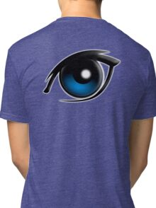 EYE, Blue eyes, Cartoon Tri-blend T-Shirt