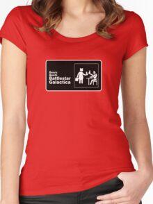 Bears, Beets, Battlestar Galactica Women's Fitted Scoop T-Shirt