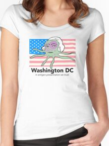 Star spangled dendrite Women's Fitted Scoop T-Shirt