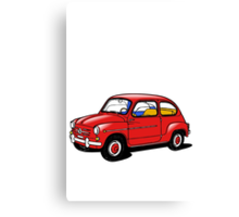 fiat 600 red Canvas Print