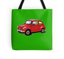 fiat 600 red Tote Bag