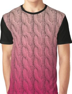 Flamingo Sunset Chunky Knit Graphic T-Shirt