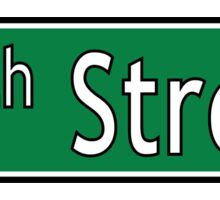 34th Street Sign Sticker