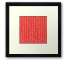 Decorative red knit seamless pattern. Framed Print