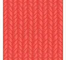 Decorative red knit seamless pattern. Photographic Print