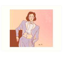 The white tux - Janeway Art Print