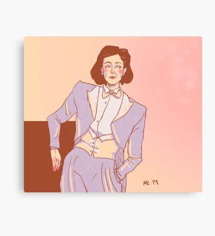 The white tux - Janeway Canvas Print