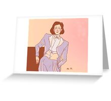 The white tux - Janeway Greeting Card
