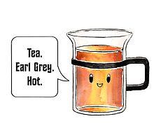 Cute Talking Earl Grey Tea Cup  Photographic Print