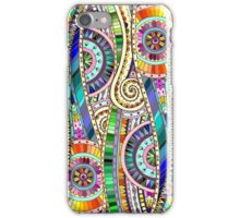 Abstract mosaic rainbow flowers iPhone Case/Skin