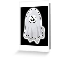 Ghost, Cute, Cartoon, Spook, Spooky, Halloween, fun, funny Greeting Card