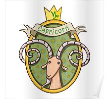 Capricorn. Cartoon horoscope. Poster