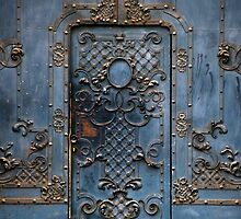 The blue gate by JBlaminsky