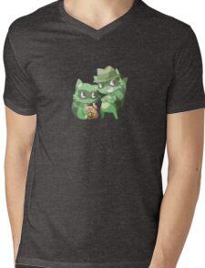 Happy Three Friends - Raccoons Mens V-Neck T-Shirt