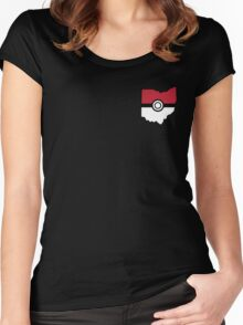 Pokemon USA American State  Women's Fitted Scoop T-Shirt