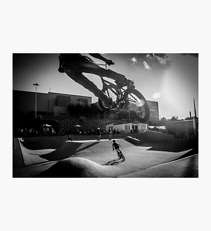 Skate Park Bike Getting Air Photographic Print