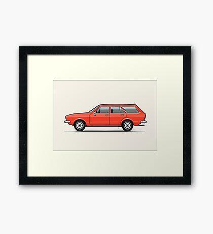 VDub Dasher Wagon / Passat B1 Variant Framed Print