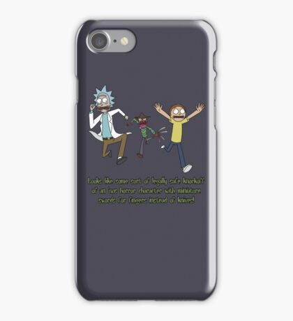 Rick and Morty – Looks Like an '80s Knockoff iPhone Case/Skin