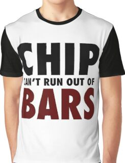 CHIP CAN'T RUN OUT OF BARS - GRIME Graphic T-Shirt