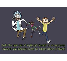 Rick and Morty – Looks Like an '80s Knockoff Photographic Print