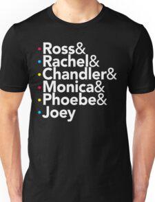 Friends TV Show Helvetica Unisex T-Shirt