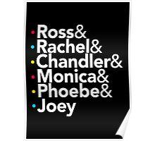 Friends TV Show Helvetica Poster