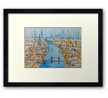 The river Thames Framed Print